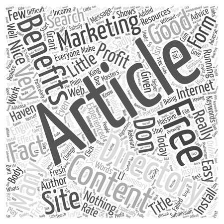 directory: Why Haven t You Got An Article Directory word cloud concept