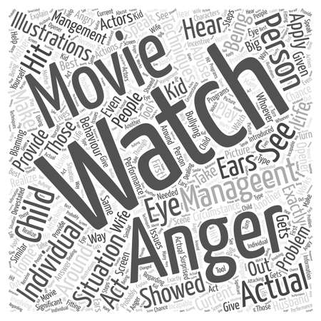 Why not Watch an Anger Management Movie word cloud concept