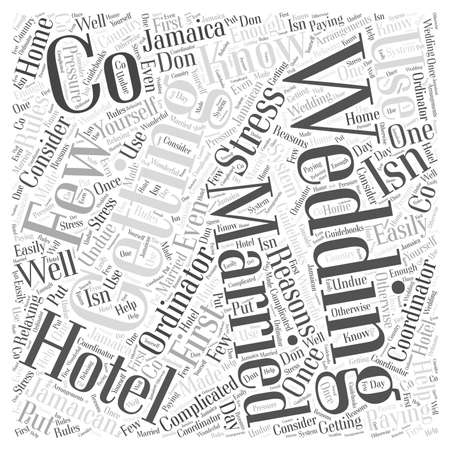 Why Use a Hotel Wedding Co word cloud concept