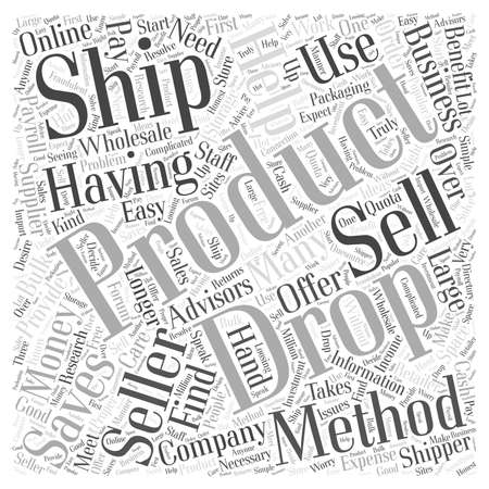 Why use the Drop Ship method word cloud concept