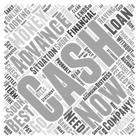 what: What Is Cash Advance Now word cloud concept