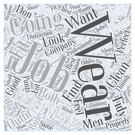 What to Wear to a Job Interview word cloud concept