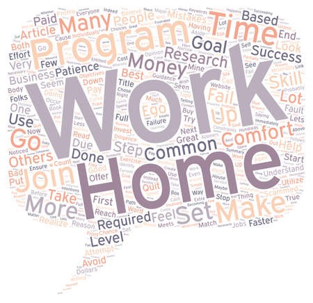 mistakes: Work at Home Common Mistakes text background wordcloud concept Illustration