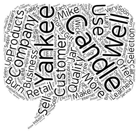 named person: Yankee Candle Company text background wordcloud concept