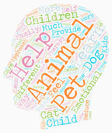 therapeutic: Woof I Can Help text background wordcloud concept