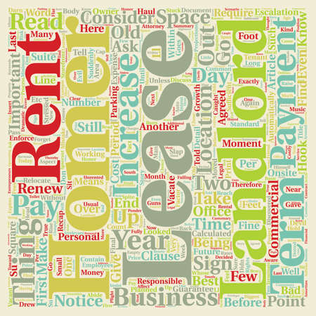 looked: With A Lease The Devil Is In The Details text background wordcloud concept Illustration