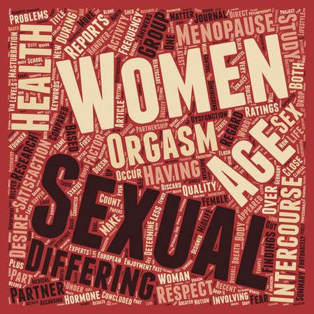 salud sexual: Mujeres Salud de la Edad Doesn t Matter wordcloud concepto de fondo de texto Sexual