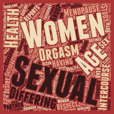 Women s Sexual Health Age Doesn t Matter text background wordcloud concept