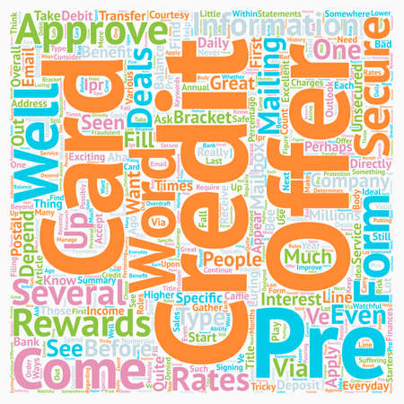 ve: You ve Been Pre approved text background wordcloud concept