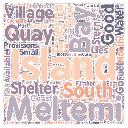 Yacht Charter in the Northern Cyclades text background wordcloud concept