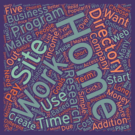 Work At Home Directories Why Use Them text background wordcloud concept