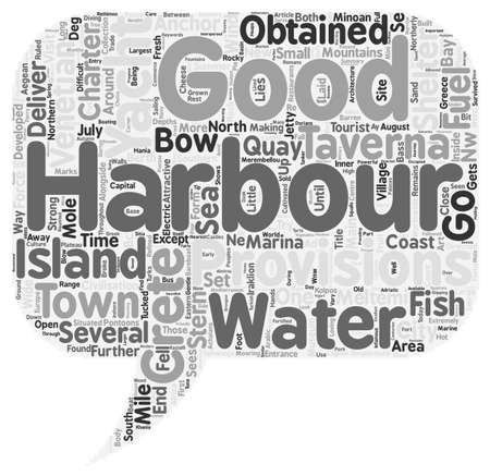 charter: Yacht Charter in Northern Crete text background wordcloud concept