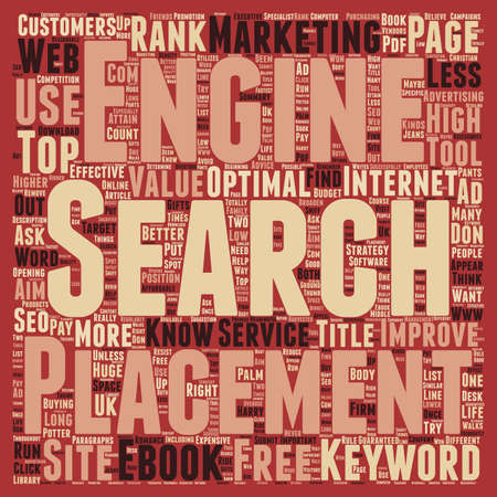 page rank: You Must Use The Right Keywords To Attain High Page Rank text background wordcloud concept