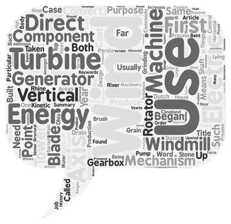 seeks: Wind Turbines text background wordcloud concept
