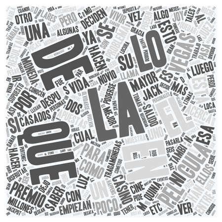en: Ya viste la pelicula Algo pasa en Las vegas text background wordcloud concept