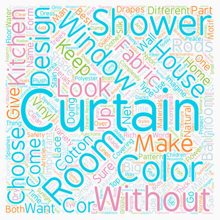 cor: Without drapes is it curtains text background wordcloud concept