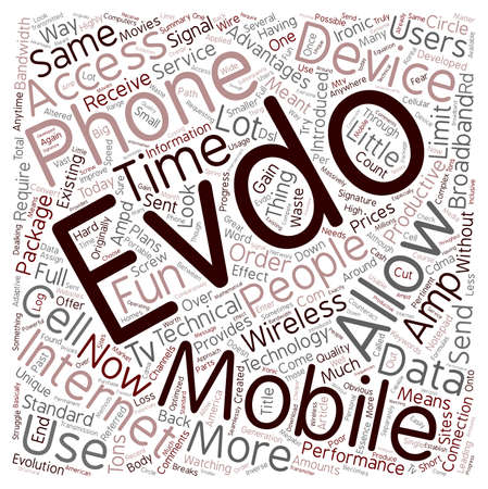 ironic: You Had Me At EVDO text background wordcloud concept