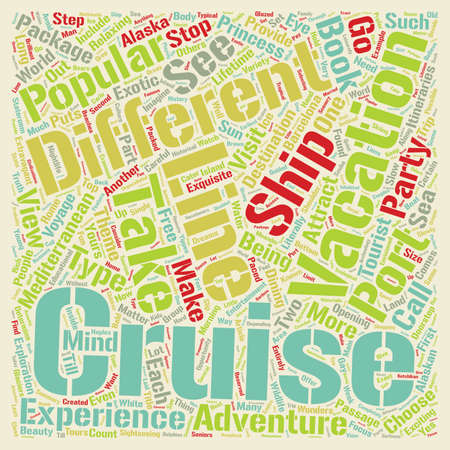 Yippee I Said Yes To A Cruise Now Where Should I Go And Why text background wordcloud concept