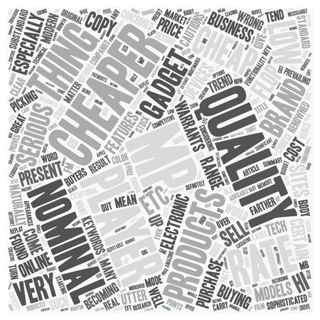 warrants: You Can Be An Utter Flop With Cheap Mp4 Players text background wordcloud concept