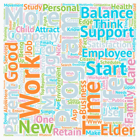 work life: Work Life Balance Is Just Good Business text background wordcloud concept Illustration