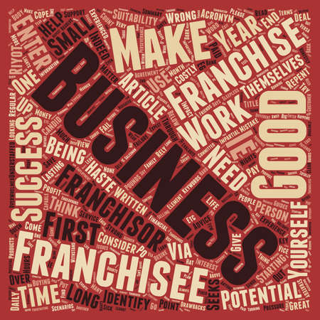 Would You Make A Good Franchisee text background wordcloud concept