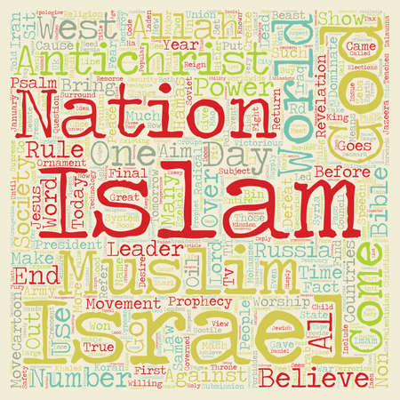 Will Islam Rule text background wordcloud concept