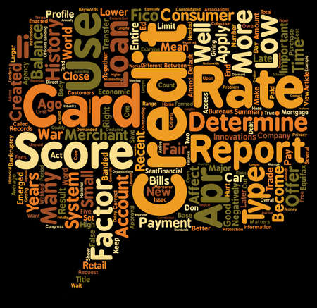 Why Your Credit Score Matters text background wordcloud concept