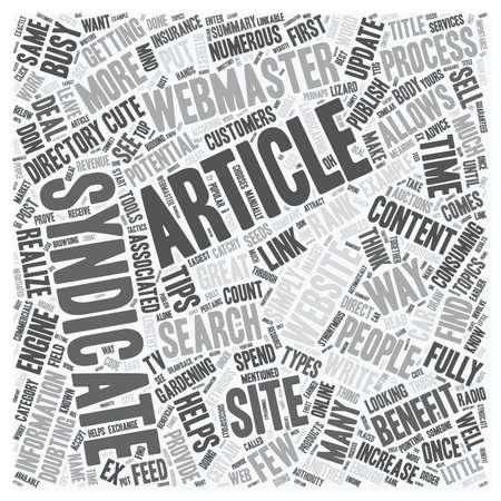 syndicate: Why You Should Get Your Articles Syndicated text background wordcloud concept