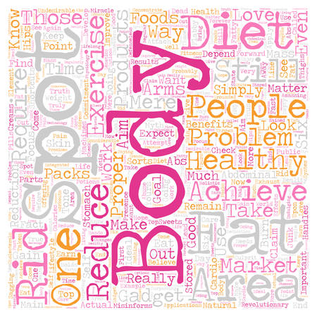 flabby: why you cant spot reduce text background wordcloud concept Illustration