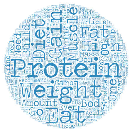 muscle gain: Why You Don t Need Protein To Gain Muscle text background wordcloud concept