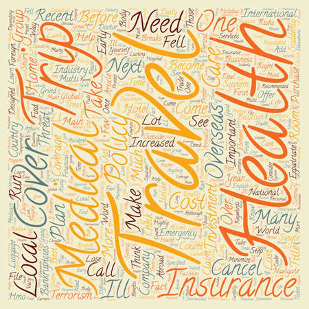 Why Traveler s Medical Insurance Is An Important Investment text background wordcloud concept Illustration