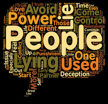 to lie: Why People Lie text background wordcloud concept