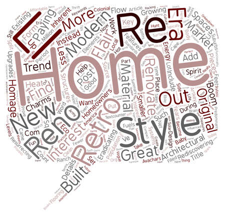 Why Renovate When You Can Retro Reno text background wordcloud concept