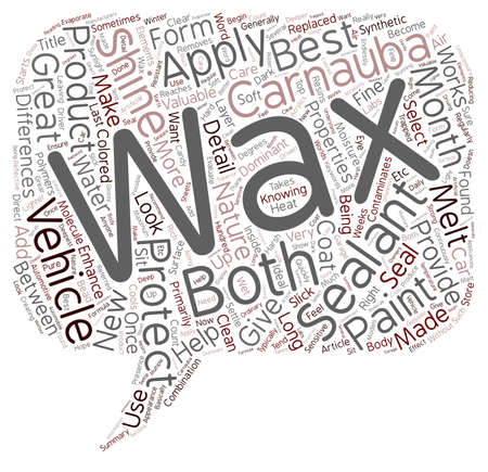 waxes: Why Wax When You Can Seal text background wordcloud concept Illustration