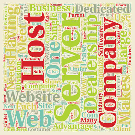 dedicated: Why It s Crucial To Have A Dedicated Server text background wordcloud concept