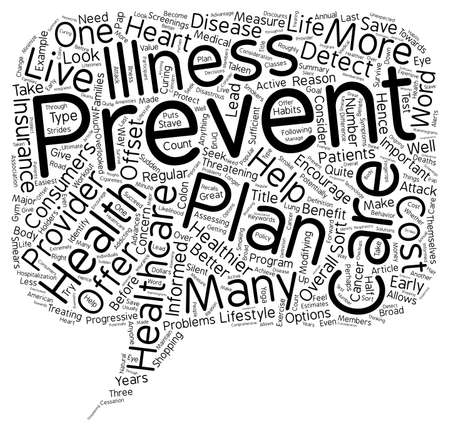 preventive: Why Preventive Care is Important in a Healthcare Plan Provider text background wordcloud concept