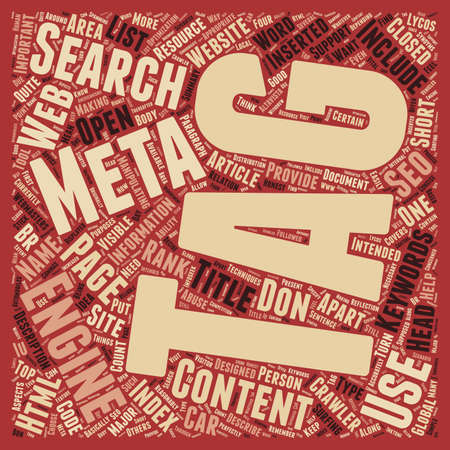 meta: Why Meta Tags used text background wordcloud concept