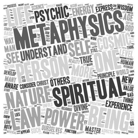 metaphysics: Why Metaphysics Part 2 text background wordcloud concept Illustration