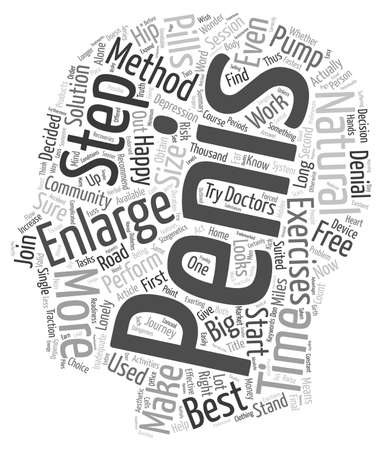 penis: Which penis enlargement method is best for me text background wordcloud concept