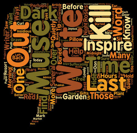 Why I Killed My Muse And You Should Too text background wordcloud concept