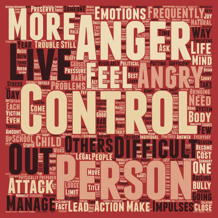 make summary: Why Do We Need to Control Anger text background wordcloud concept