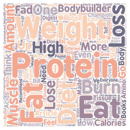 won: Why High Protein Diets Won t Help You Lose Weight text background wordcloud concept