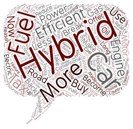 hybrid: Why Buy A Hybrid Car text background wordcloud concept Illustration
