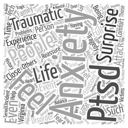 When Tragedy Strikes text background wordcloud concept Illustration