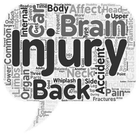 Whip It Good Car Accidents and Your Spine text background wordcloud concept Illusztráció