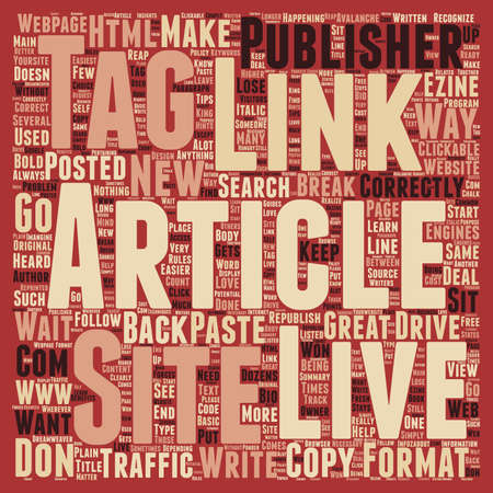 article: Why is it necessary to keep track of your article back links text background wordcloud concept