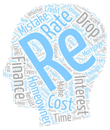 When Is It A Mistake To Re Finance 1 text background wordcloud concept