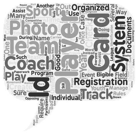 youth sports: Why Have ID Cards in Youth Sports text background wordcloud concept Illustration
