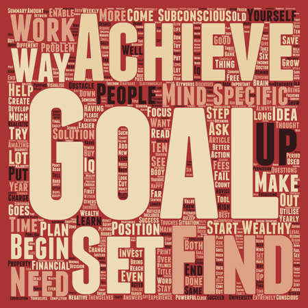 brain works: Why is it important to set goals text background wordcloud concept
