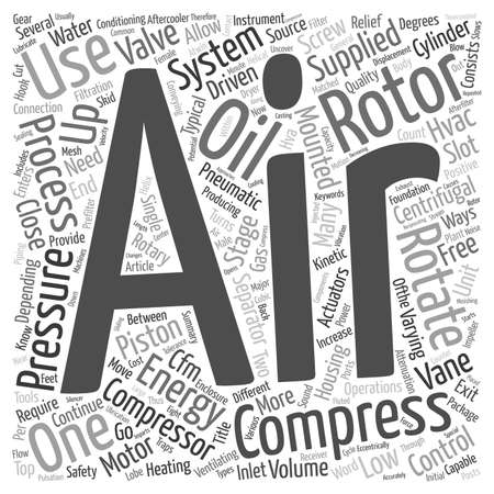 compressed air: What You Need To Know About Compressed Air Systems text background wordcloud concept Illustration